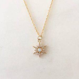 Opal Star Necklace